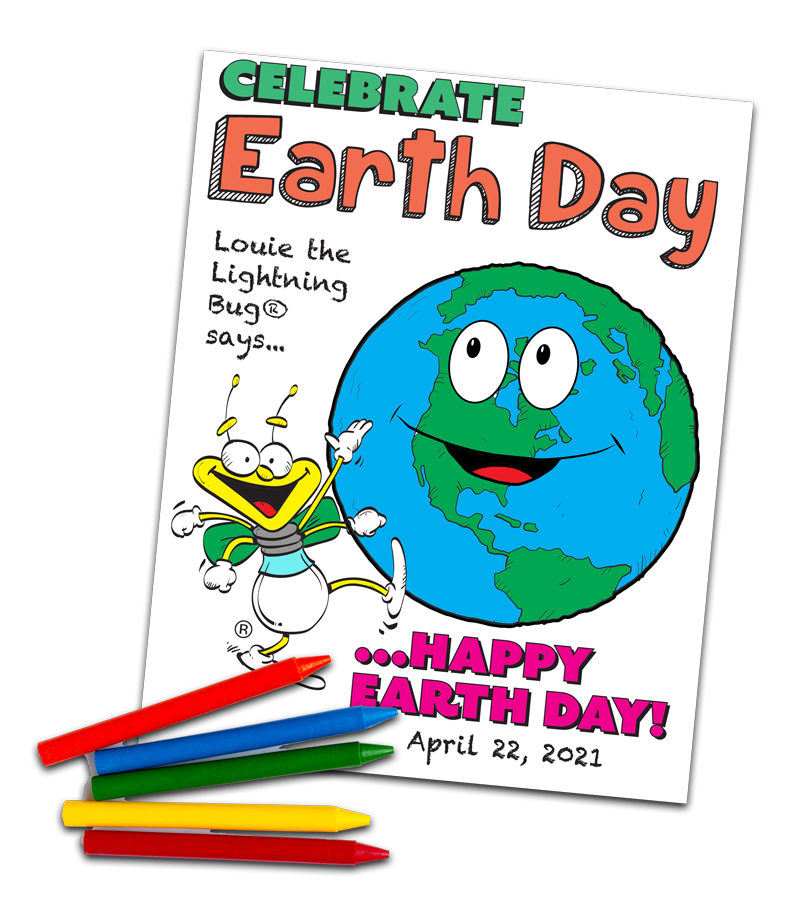 Celebrate Earth Day with this downloadable coloring sheet